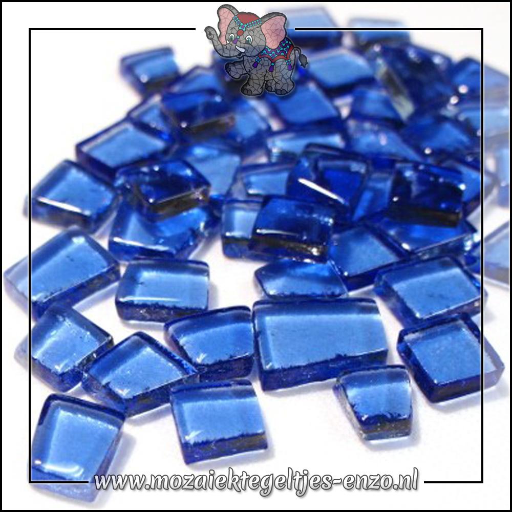 Transparante Glas Puzzelstukjes Normaal | Enkele Kleuren | 50 gram |Industrial Blue