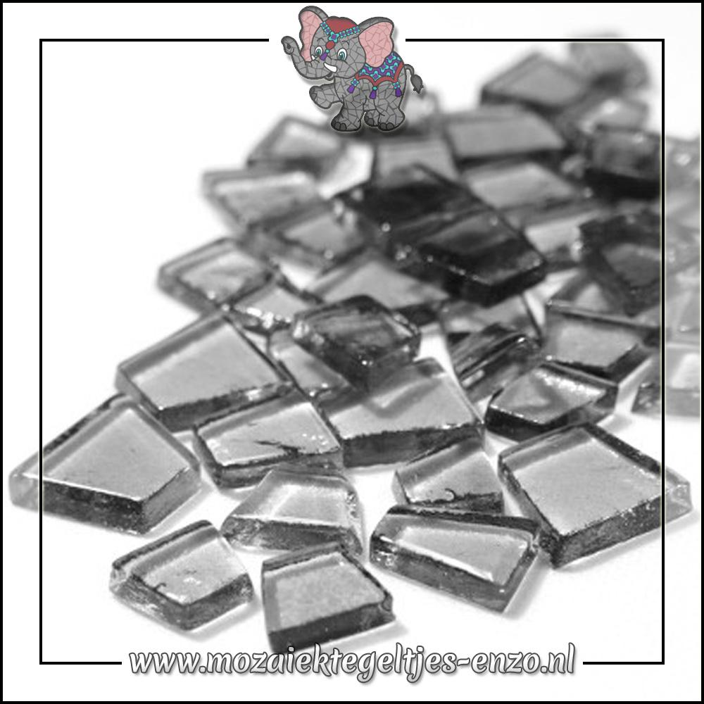 Transparante Glas Puzzelstukjes Normaal | Enkele Kleuren | 50 gram |Heavy Metal Grey