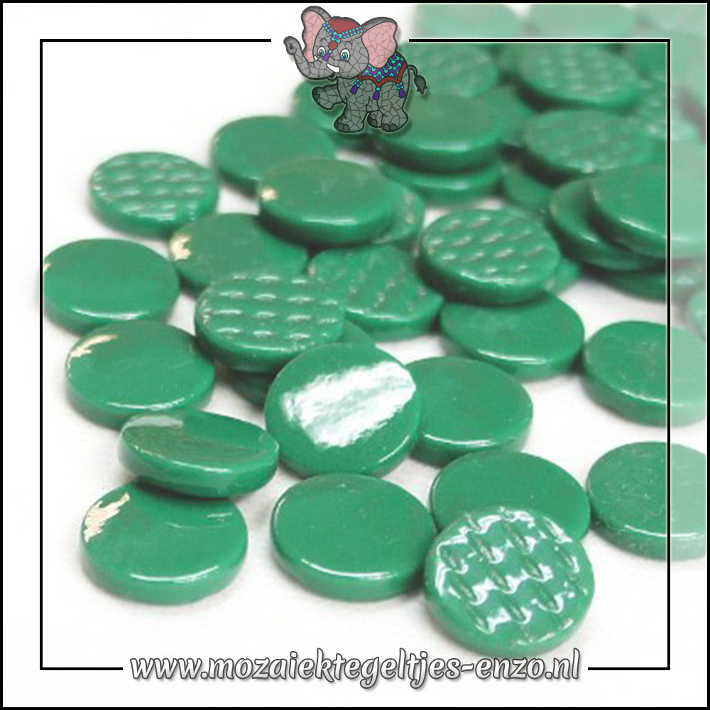 Glasdruppels Normaal | 18mm | Enkele Kleuren | 50 gram | Spruce Green