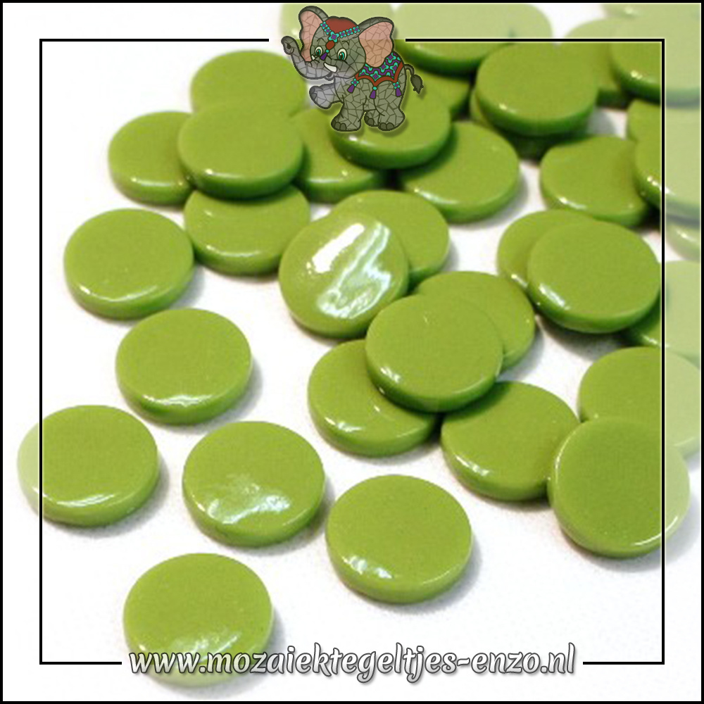 Glasdruppels Normaal | 18mm | Enkele Kleuren | 50 gram | New Green