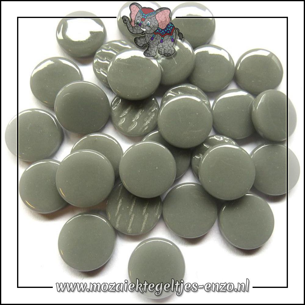 Glasdruppels Normaal   18mm   Enkele Kleuren   50 gram   Mid Grey