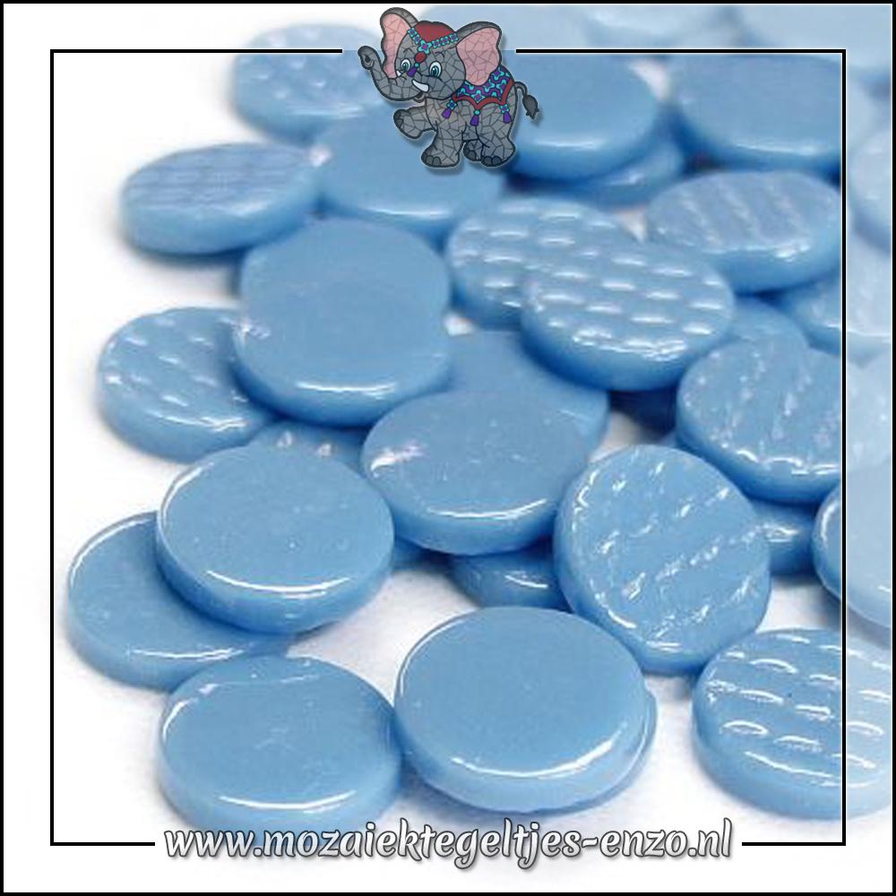 Glasdruppels Normaal | 18mm | Enkele Kleuren | 50 gram | Lake Blue