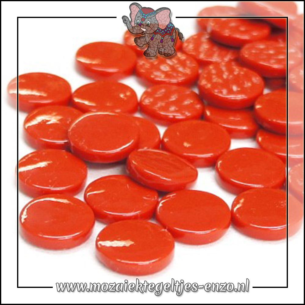 Glasdruppels Normaal | 18mm | Enkele Kleuren | 50 gram | Bright Red