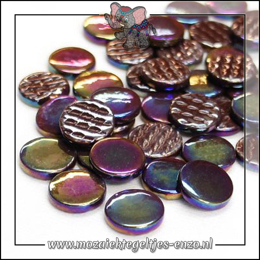 Glasdruppels Parelmoer | 18mm | Enkele Kleuren | 50 gram | Merbau