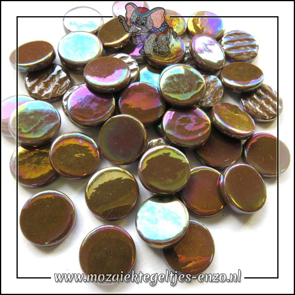 Glasdruppels Parelmoer   18mm   Enkele Kleuren   50 gram   Coffee
