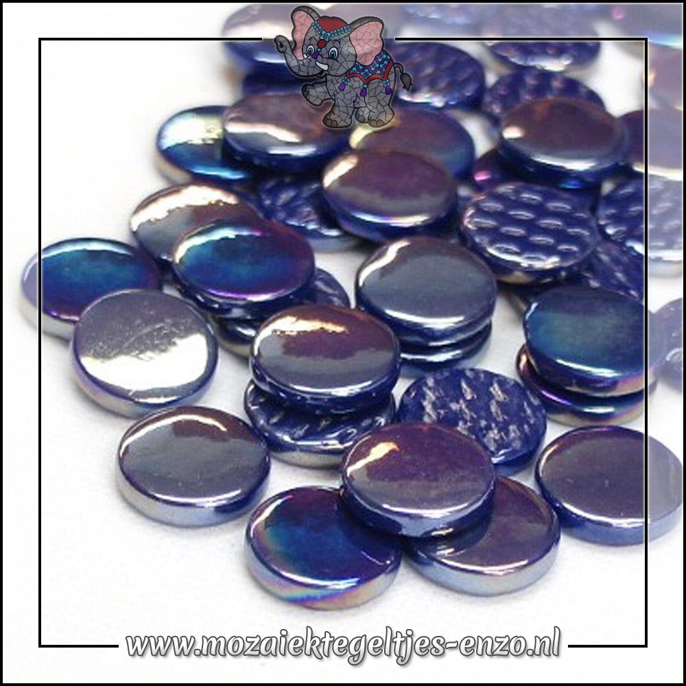 Glasdruppels Parelmoer   18mm   Enkele Kleuren   50 gram   Royal Blue