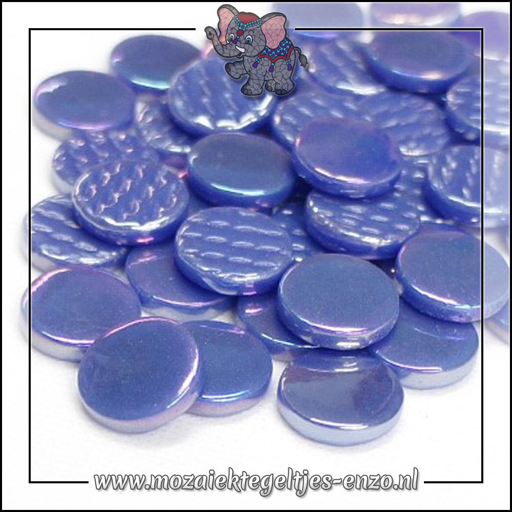 Glasdruppels Parelmoer   18mm   Enkele Kleuren   50 gram   Warm Blue