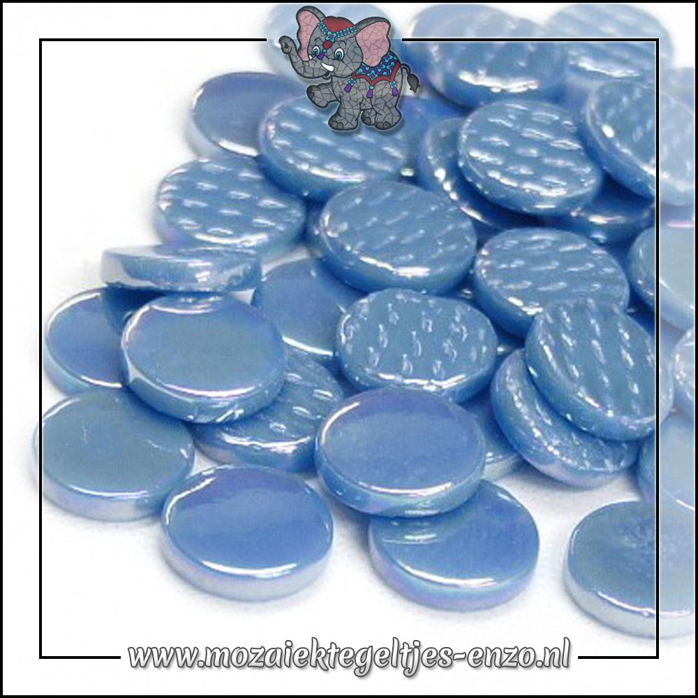 Glasdruppels Parelmoer | 18mm | Enkele Kleuren | 50 gram | Lake Blue