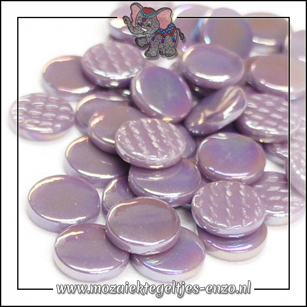 Glasdruppels Parelmoer   18mm   Enkele Kleuren   50 gram   Lilac