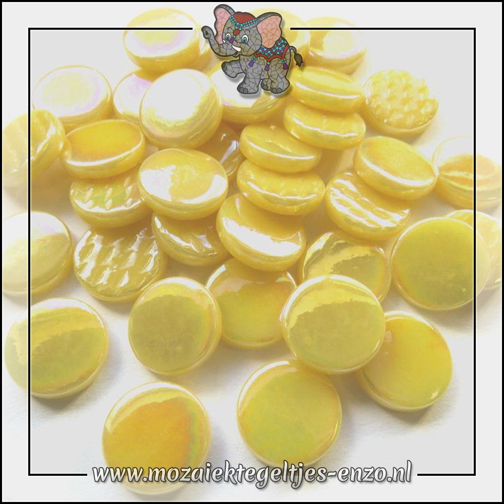 Glasdruppels Parelmoer | 18mm | Enkele Kleuren | 50 gram | Corn Yellow