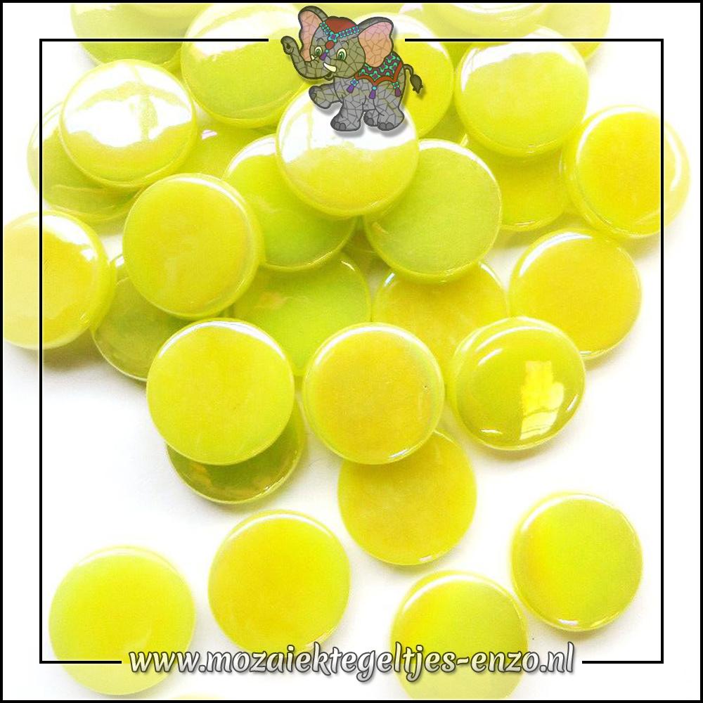 Glasdruppels Parelmoer | 18mm | Enkele Kleuren | 50 gram | Daffodil Yellow