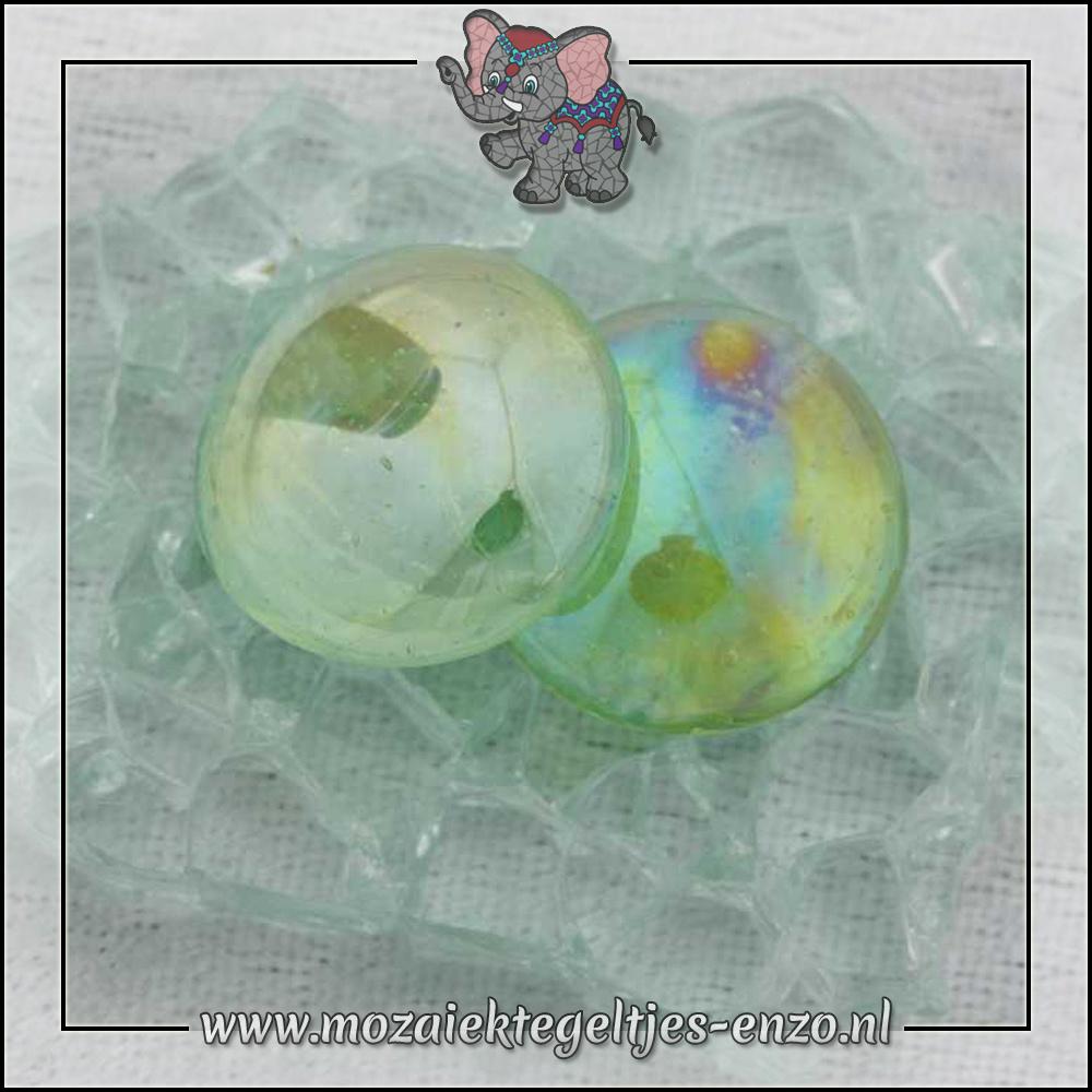 Glas Nuggets Transparant | 16-20mm | Enkele Kleuren | 10 stuks |Green Transparent Opalescent