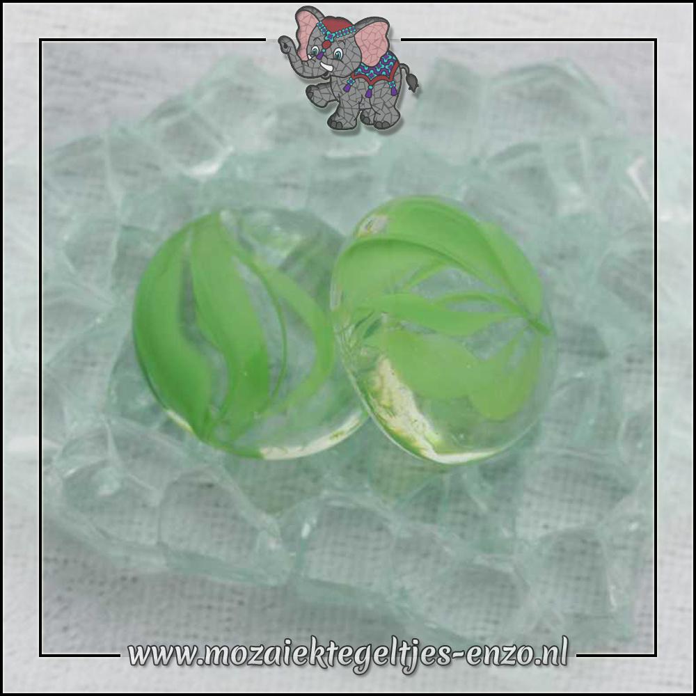 Glas Nuggets Transparant | 16-20mm | Enkele Kleuren | 10 stuks |Eye Cat Green