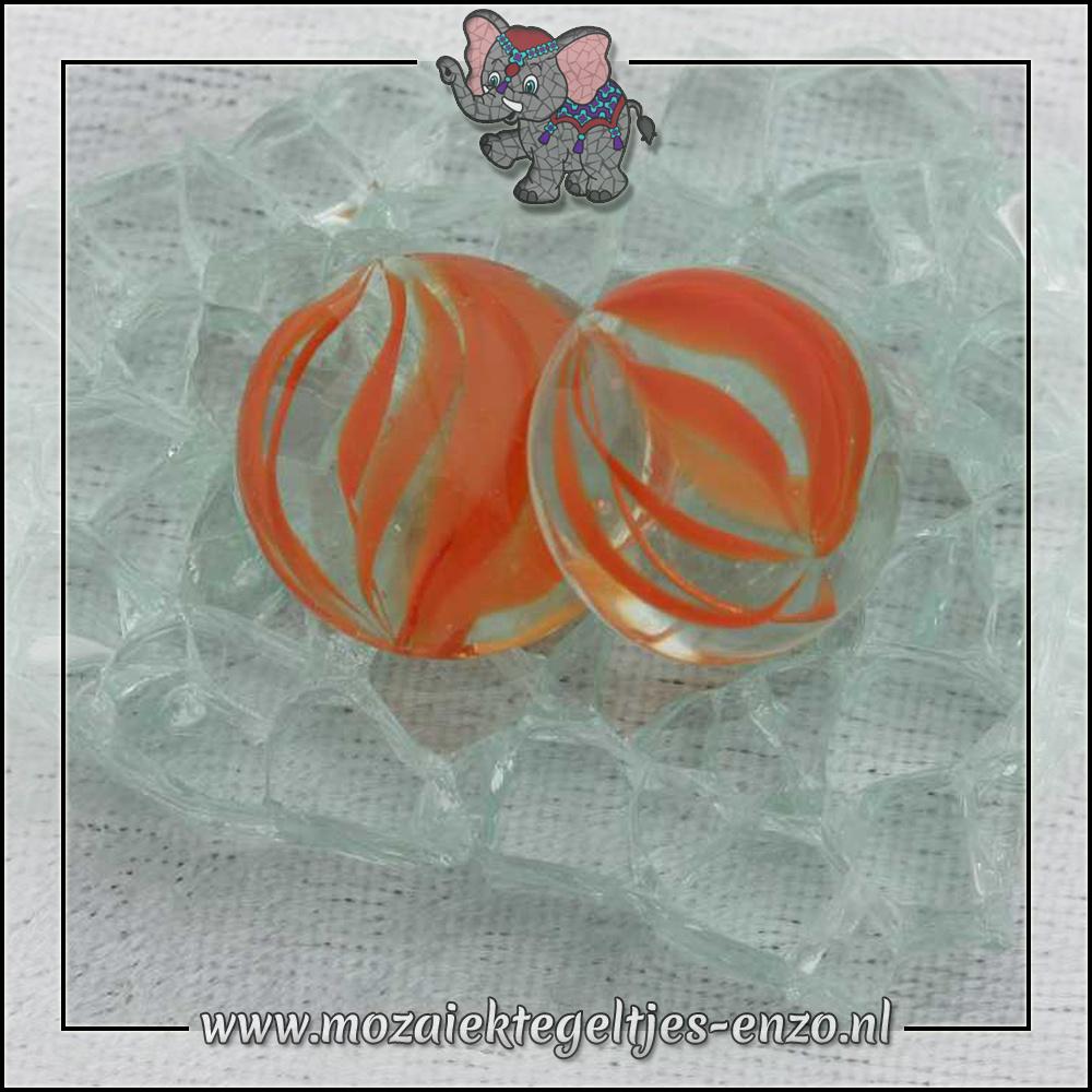 Glas Nuggets Transparant | 16-20mm | Enkele Kleuren | 10 stuks |Eye Cat Orange