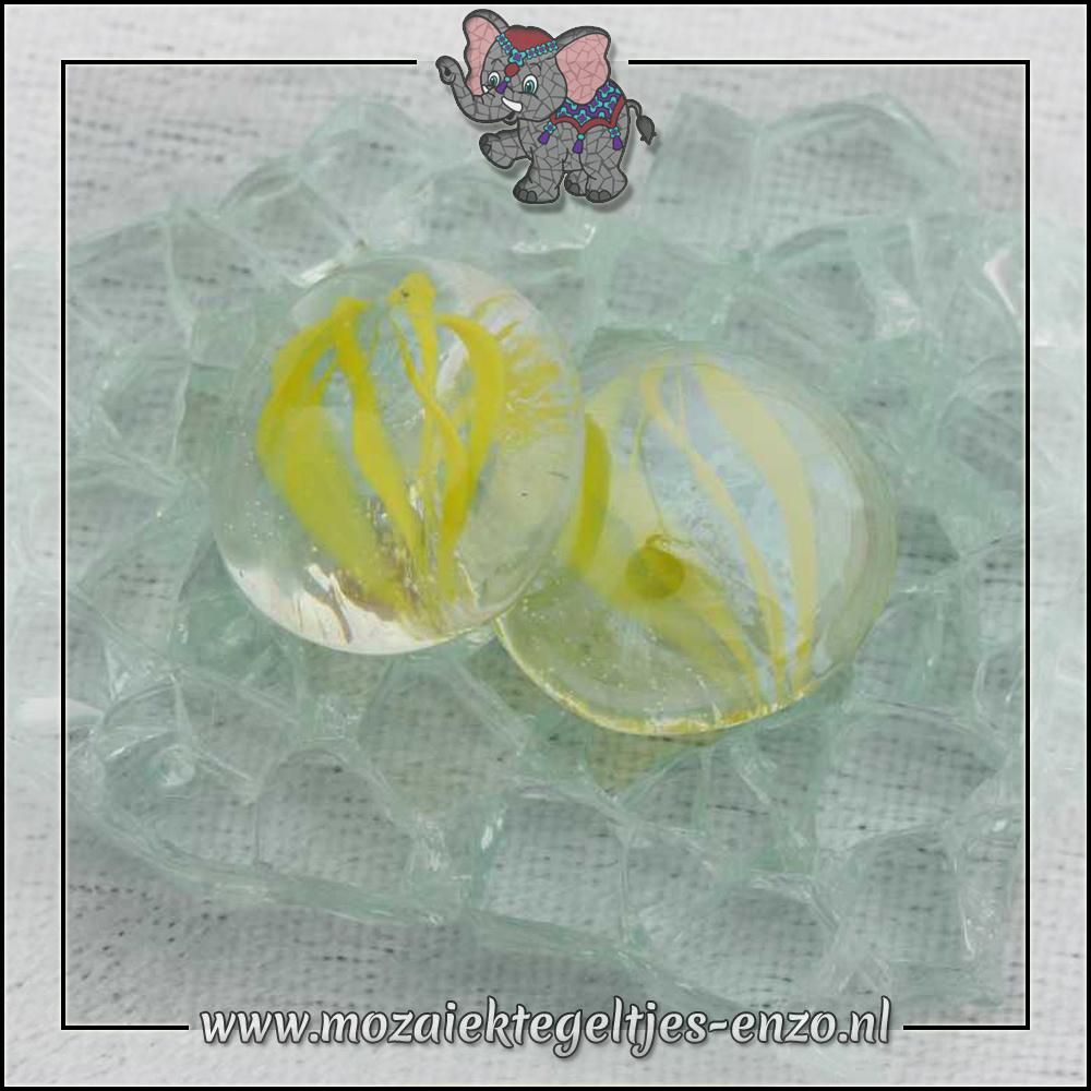 Glas Nuggets Transparant | 16-20mm | Enkele Kleuren | 10 stuks |Eye Cat Yellow