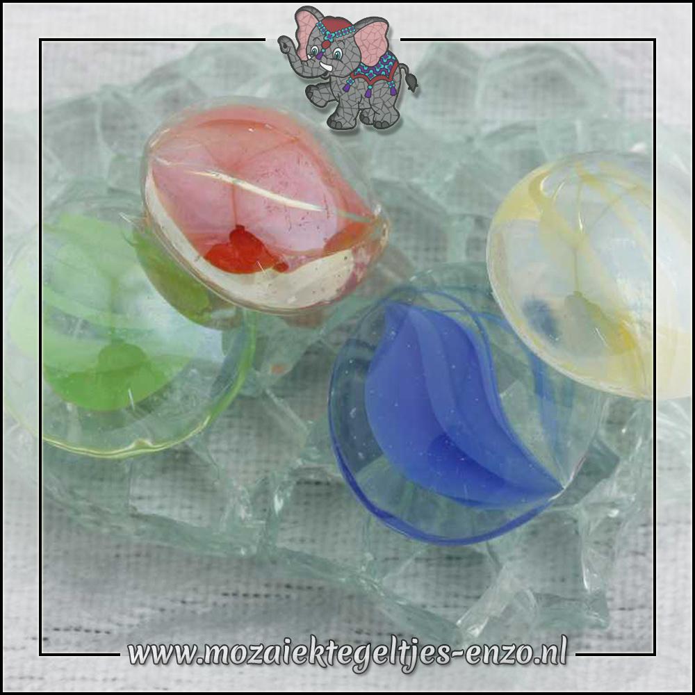 Glas Nuggets Transparant | 16-20mm | Enkele Kleuren | 10 stuks |Eye Cat Mix
