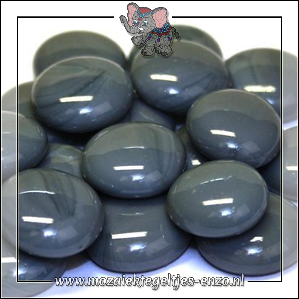 Glas Nuggets Normaal | 16-20mm | Enkele Kleuren | 10 stuks |Grey Marble