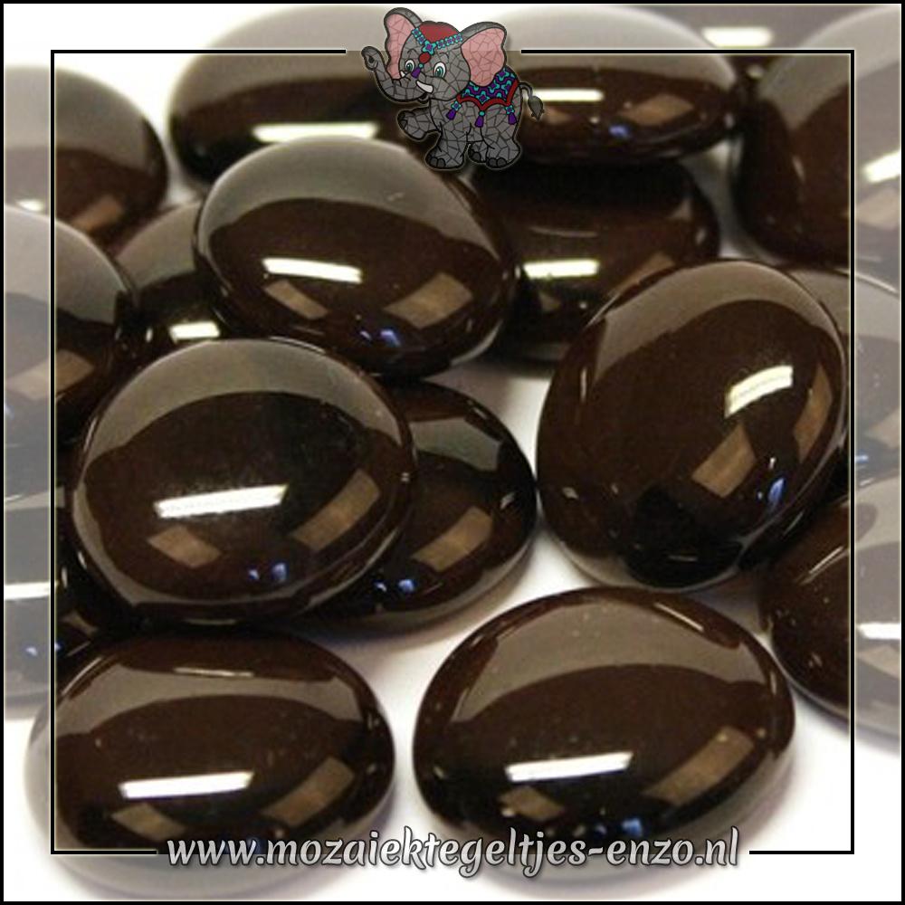 Glas Nuggets Normaal | 16-20mm | Enkele Kleuren | 10 stuks |Coffee Marble