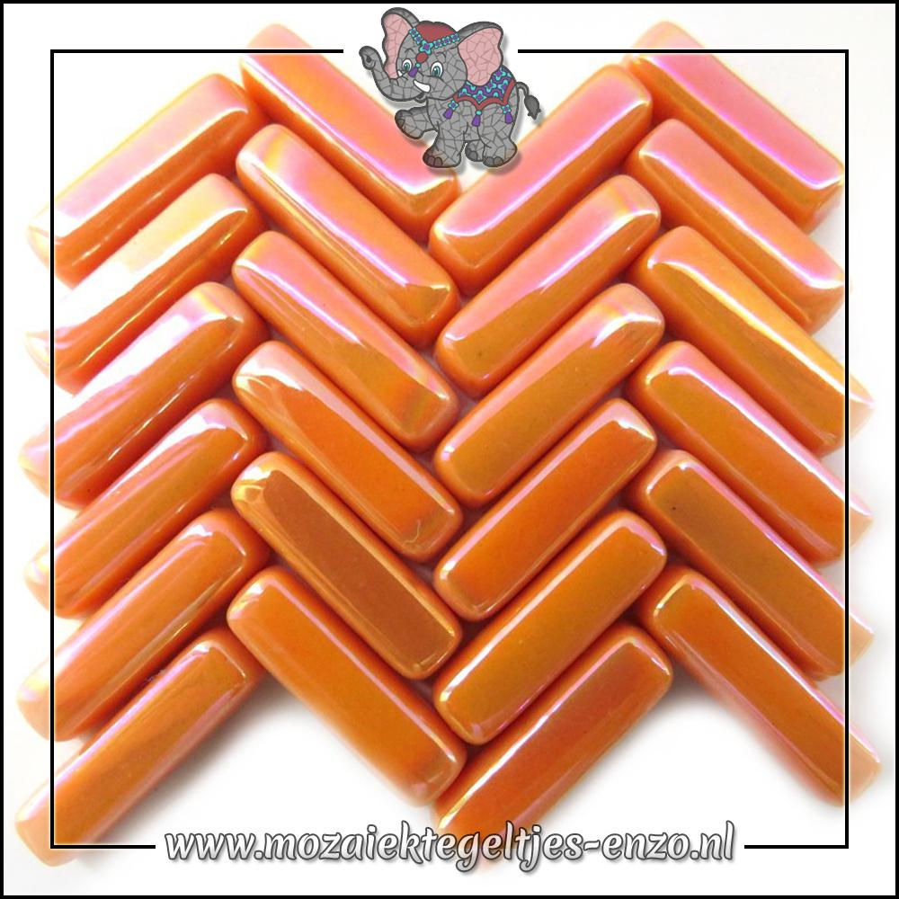 Stix Parelmoer   6x20mm   Enkele Kleuren   50 gram  Orange