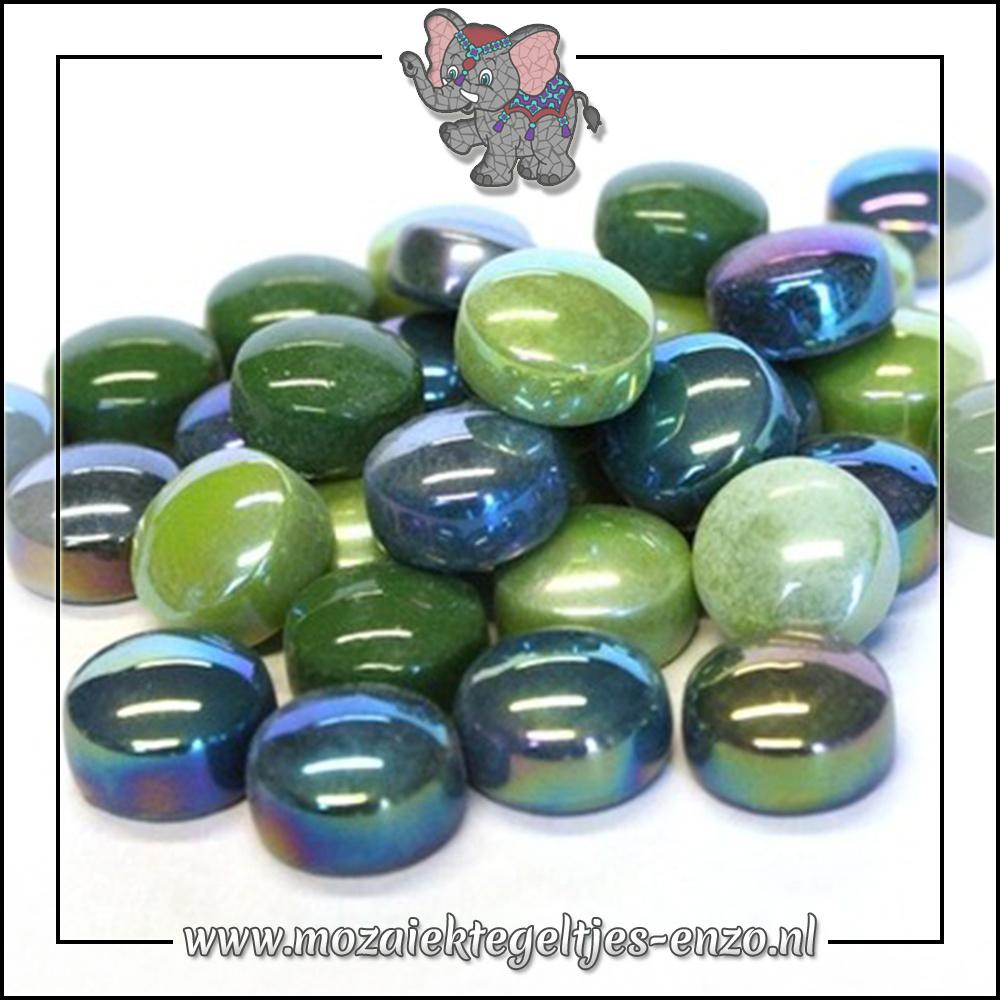 Glasdruppels Normaal-Parelmoer | 12mm | Gemixte Kleuren | 50 gram |Treehugger Green