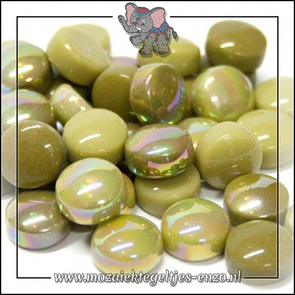 Glasdruppels Normaal-Parelmoer | 12mm | Gemixte Kleuren | 50 gram |Mossy Green