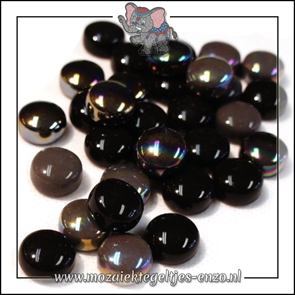Glasdruppels Normaal-Parelmoer | 12mm | Gemixte Kleuren | 50 gram | Black Magic