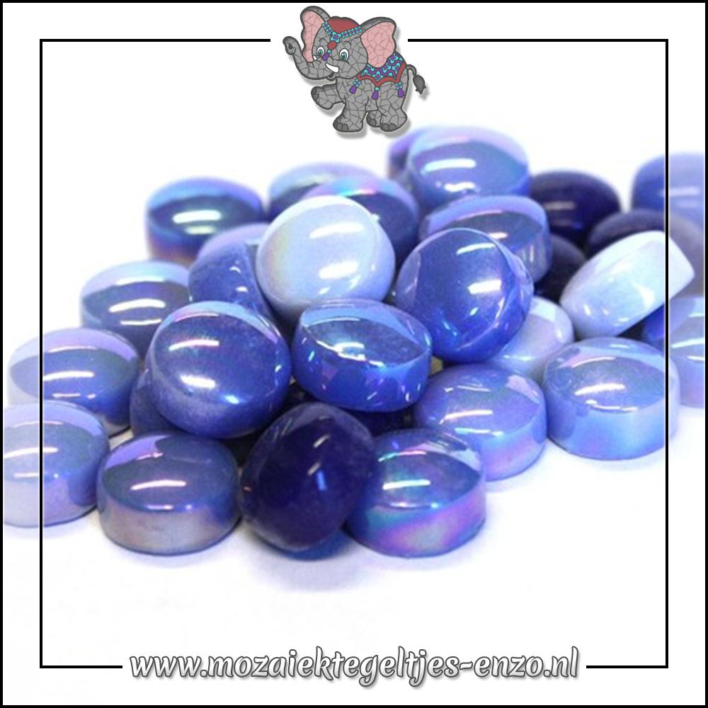 Glasdruppels Normaal-Parelmoer   12mm   Gemixte Kleuren   50 gram  Electric Blue