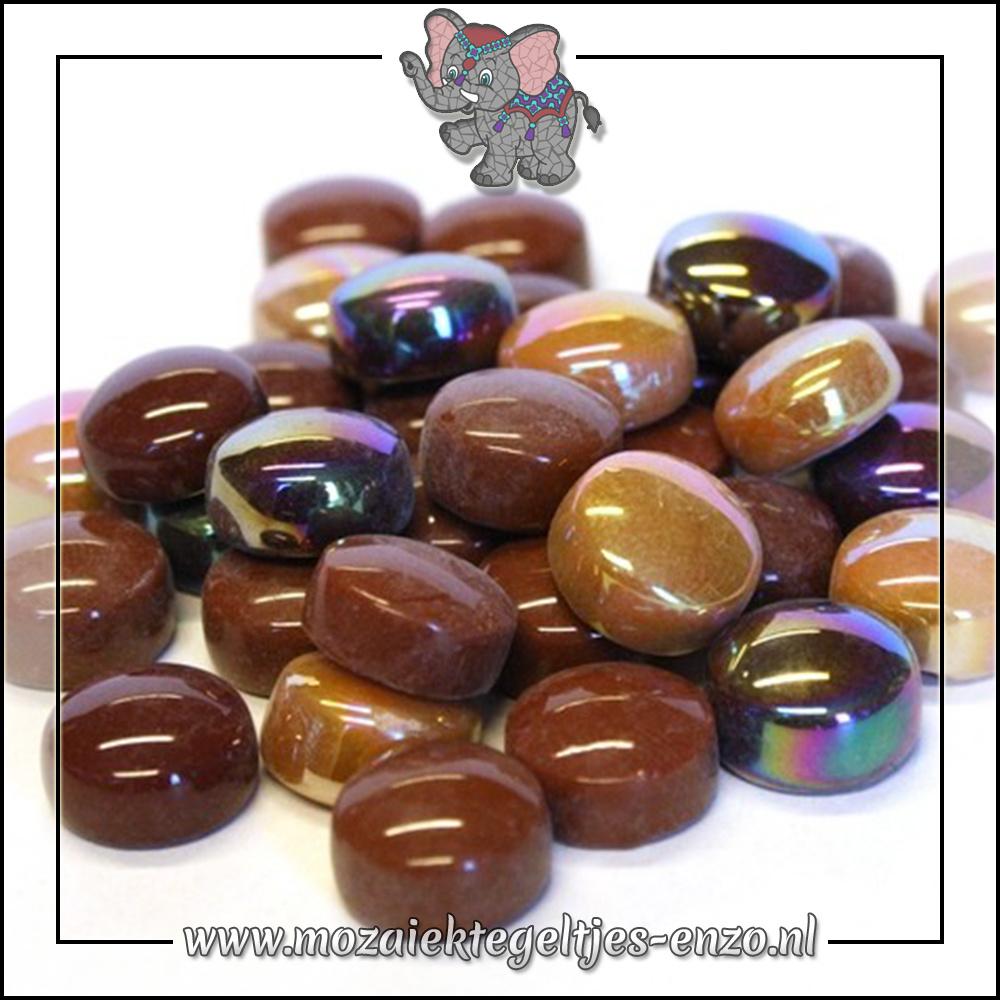 Glasdruppels Normaal-Parelmoer | 12mm | Gemixte Kleuren | 50 gram |Chocoluscious