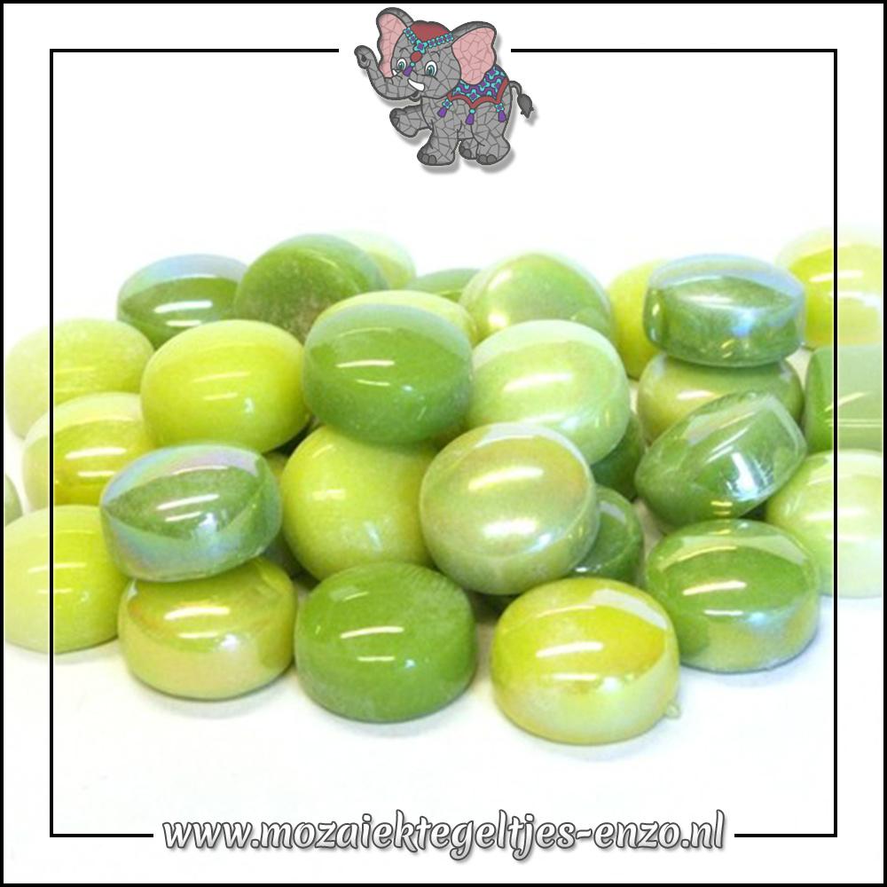 Glasdruppels Normaal-Parelmoer | 12mm | Gemixte Kleuren | 50 gram |Green with Envy
