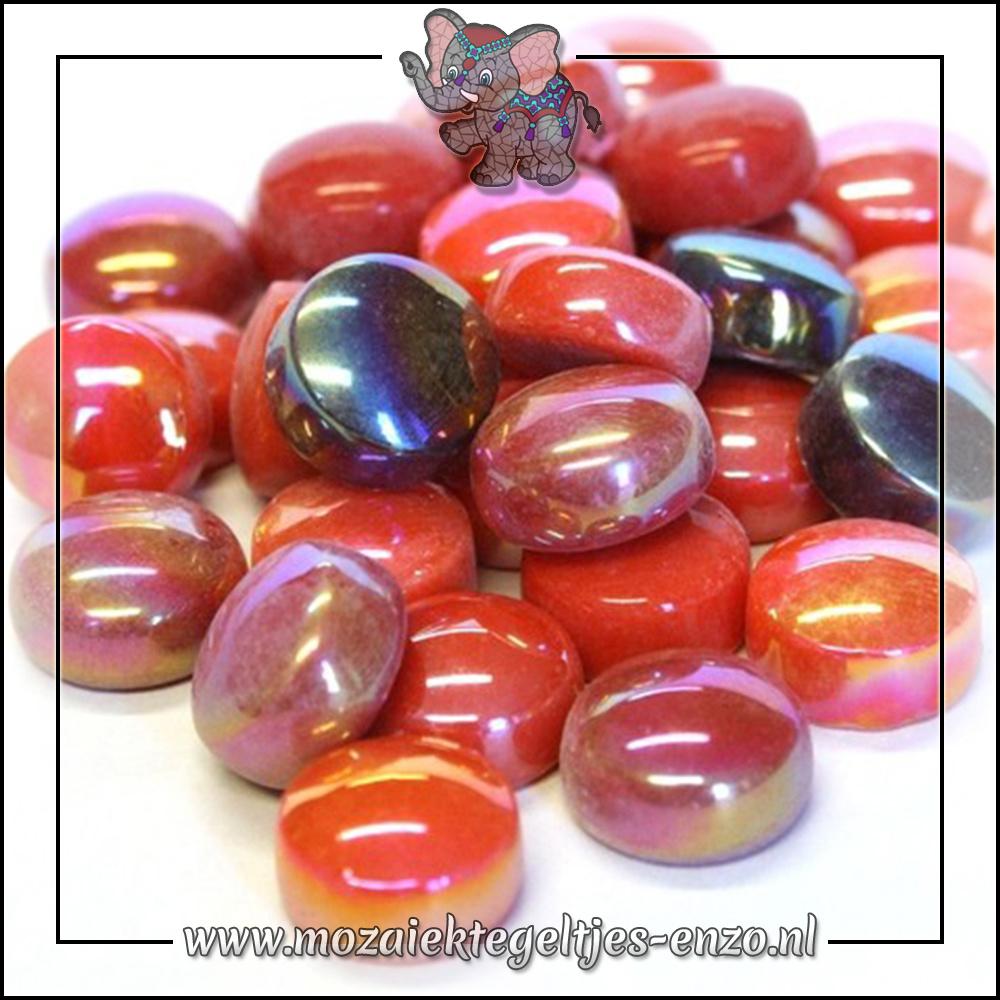 Glasdruppels Normaal-Parelmoer   12mm   Gemixte Kleuren   50 gram  Scarlet Fever