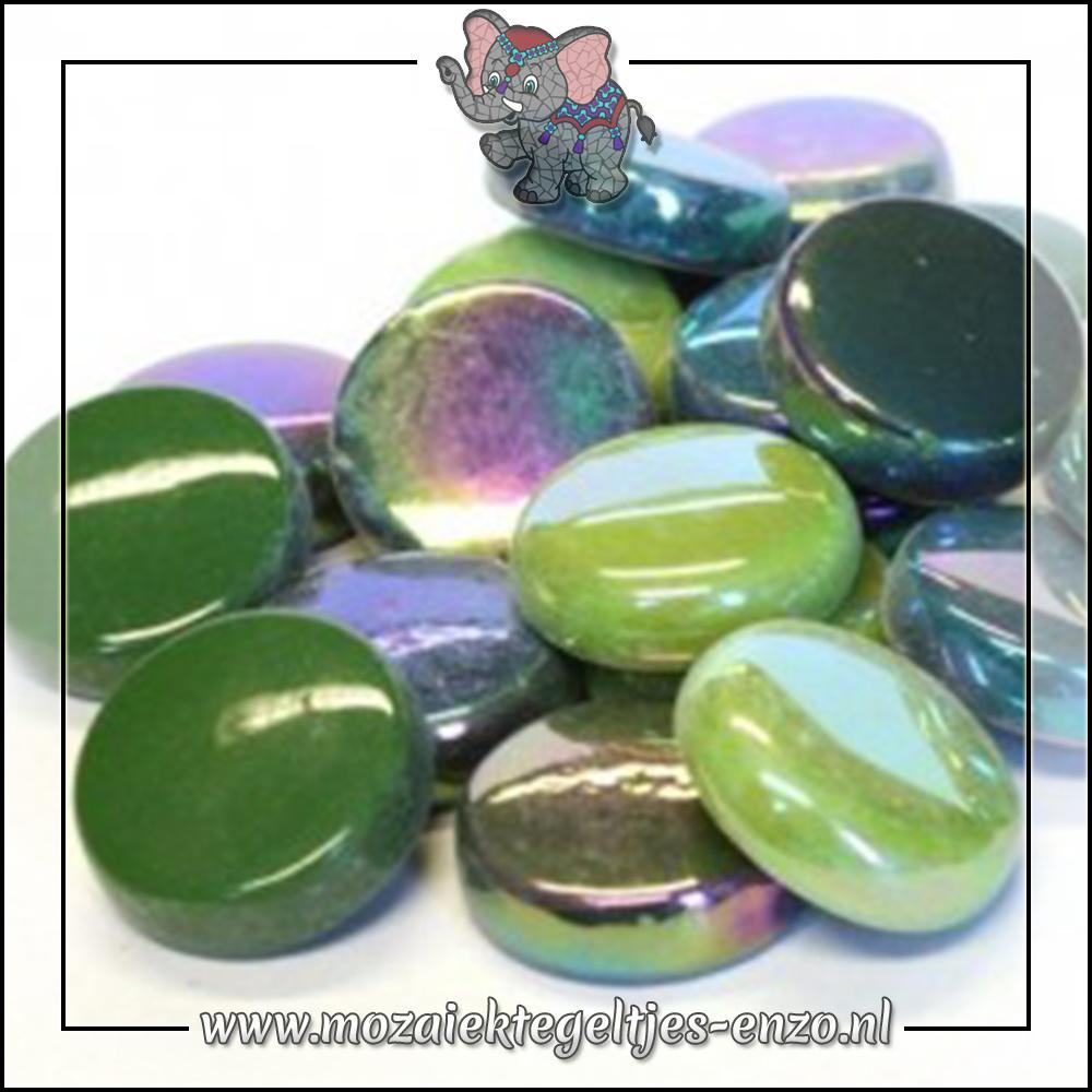 Glasdruppels Normaal-Parelmoer   20mm   Gemixte Kleuren   50 gram  Treehugger Green