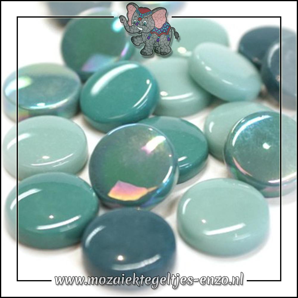 Glasdruppels Normaal-Parelmoer | 20mm | Gemixte Kleuren | 50 gram |Winged Teal