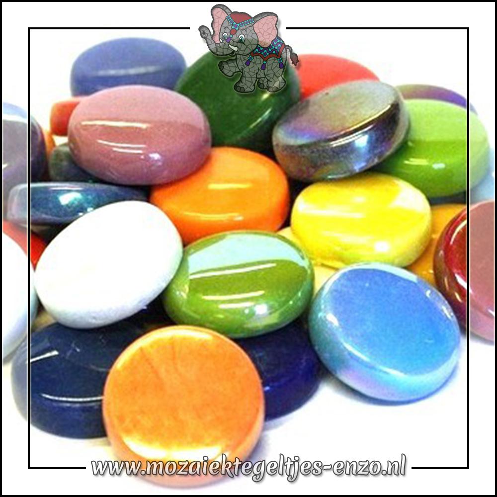 Glasdruppels Normaal-Parelmoer | 20mm | Gemixte Kleuren | 50 gram |Mixed Colours