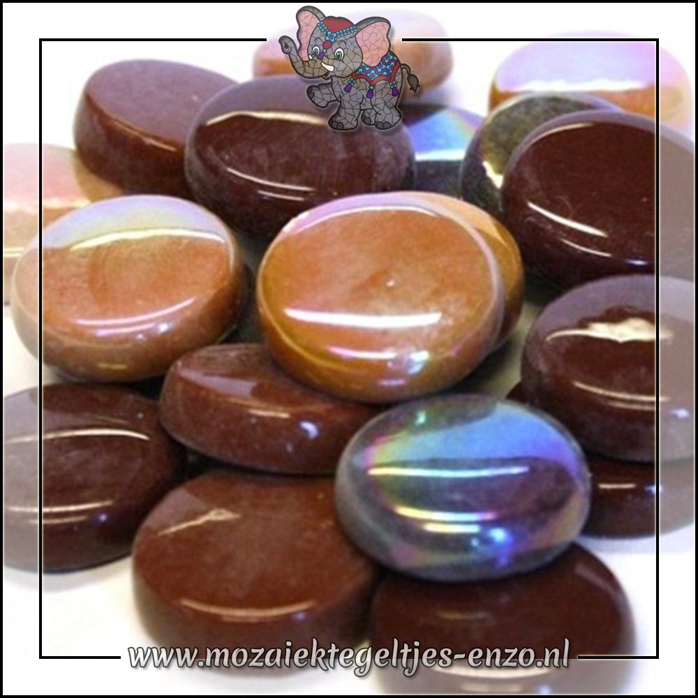 Glasdruppels Normaal-Parelmoer | 20mm | Gemixte Kleuren | 50 gram |Chocoluscious