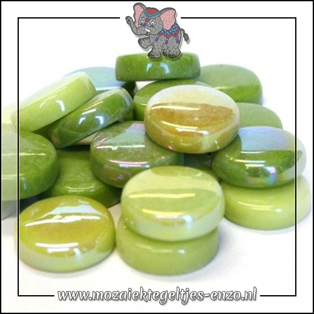 Glasdruppels Normaal-Parelmoer | 20mm | Gemixte Kleuren | 50 gram |Green with Envy