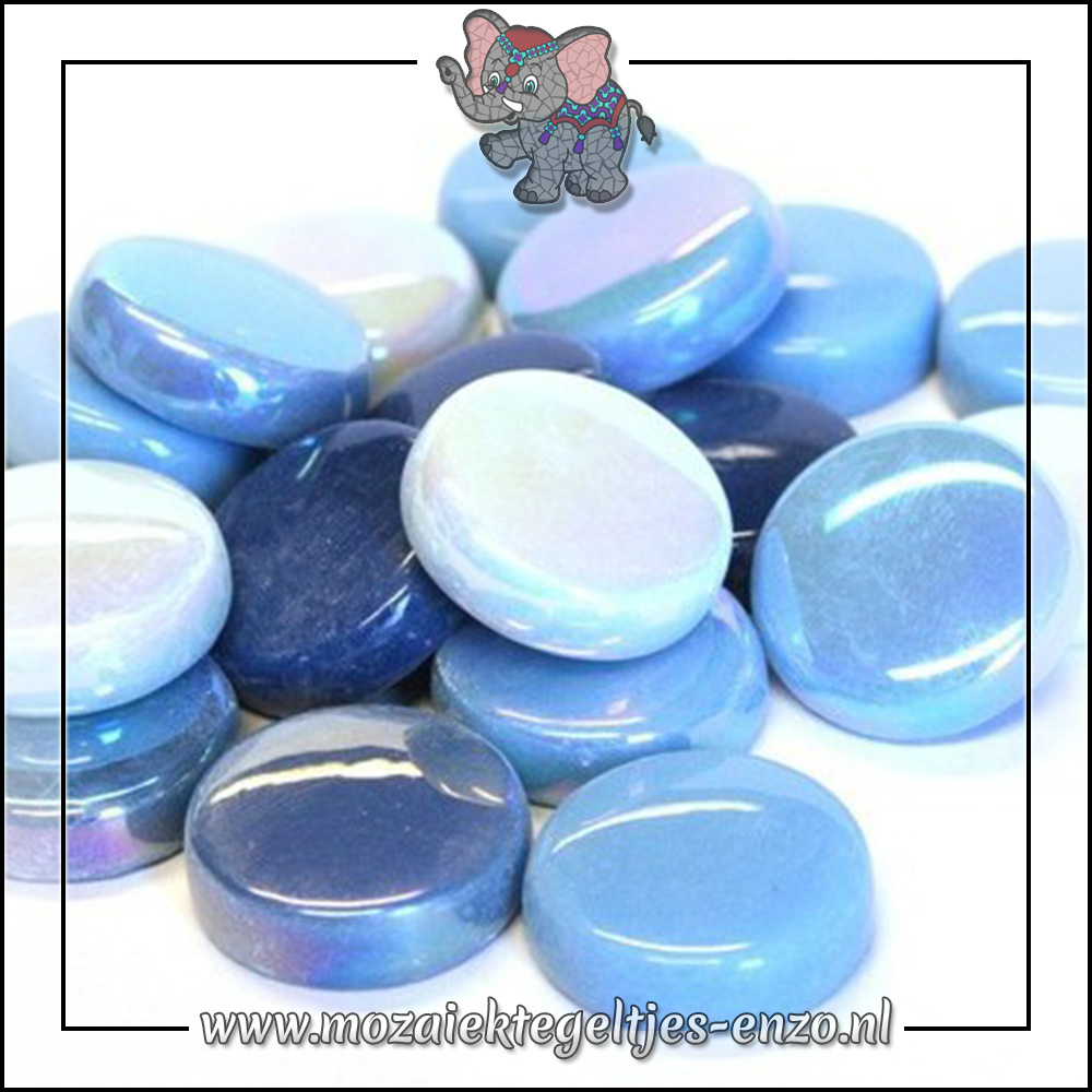 Glasdruppels Normaal-Parelmoer | 20mm | Gemixte Kleuren | 50 gram |Turquoise Oase