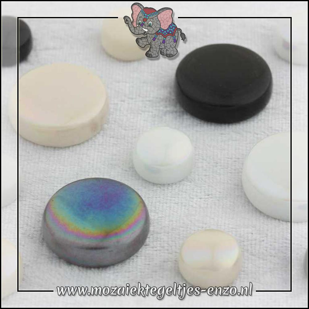 Glasdruppels Normaal-Parelmoer | 12-20mm | Gemixte Kleuren | 50 gram |Ebony and Ivory