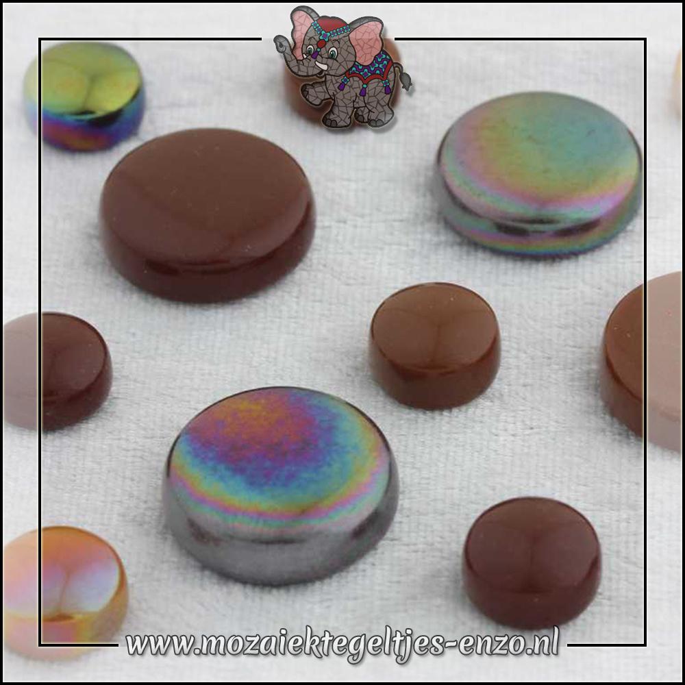 Glasdruppels Normaal-Parelmoer | 12-20mm | Gemixte Kleuren | 50 gram |Chocoluscious