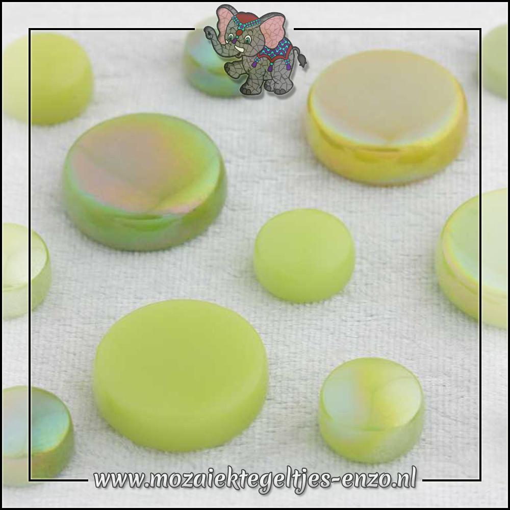 Glasdruppels Normaal-Parelmoer | 12-20mm | Gemixte Kleuren | 50 gram |Green with Envy