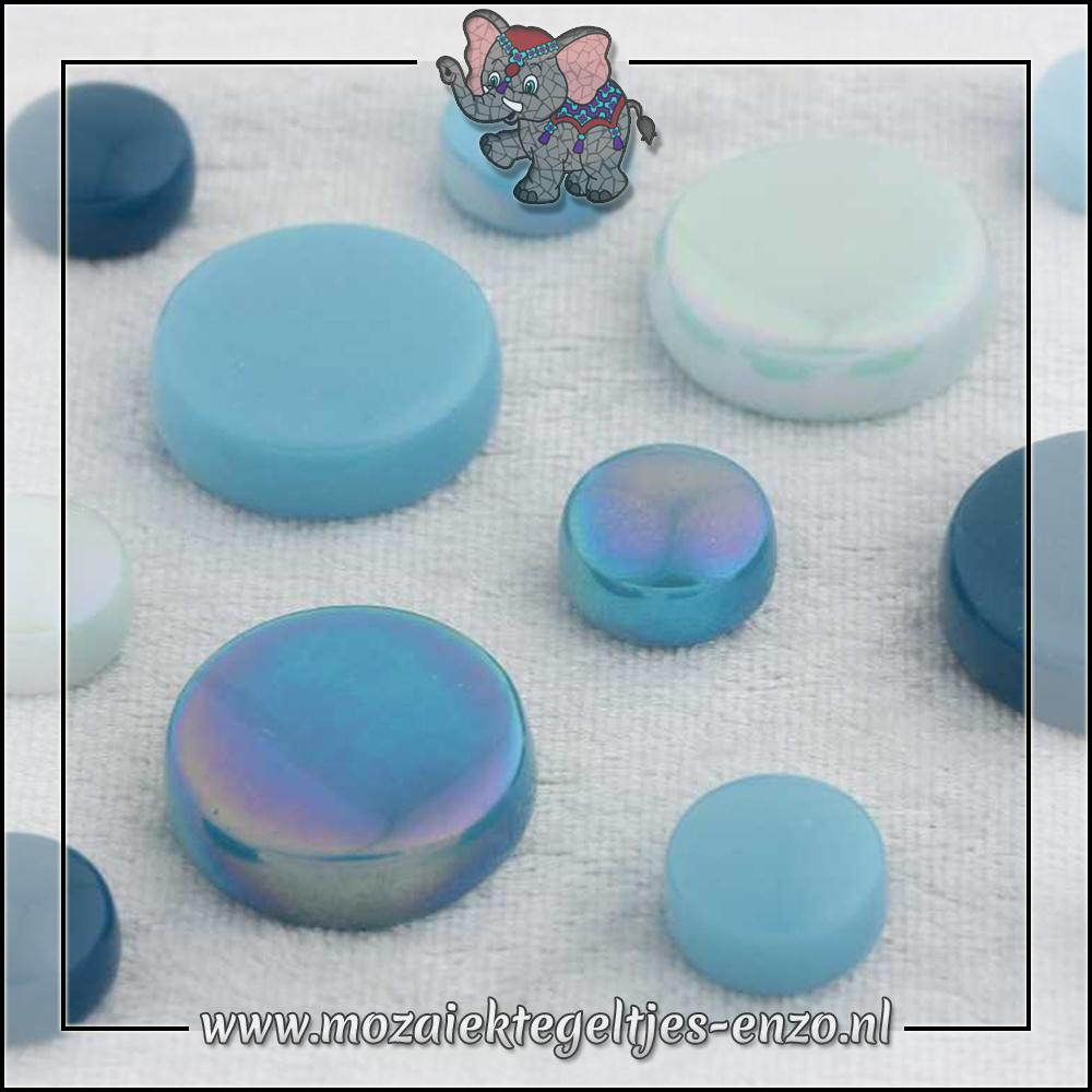 Glasdruppels Normaal-Parelmoer | 12-20mm | Gemixte Kleuren | 50 gram |Turquoise Oase