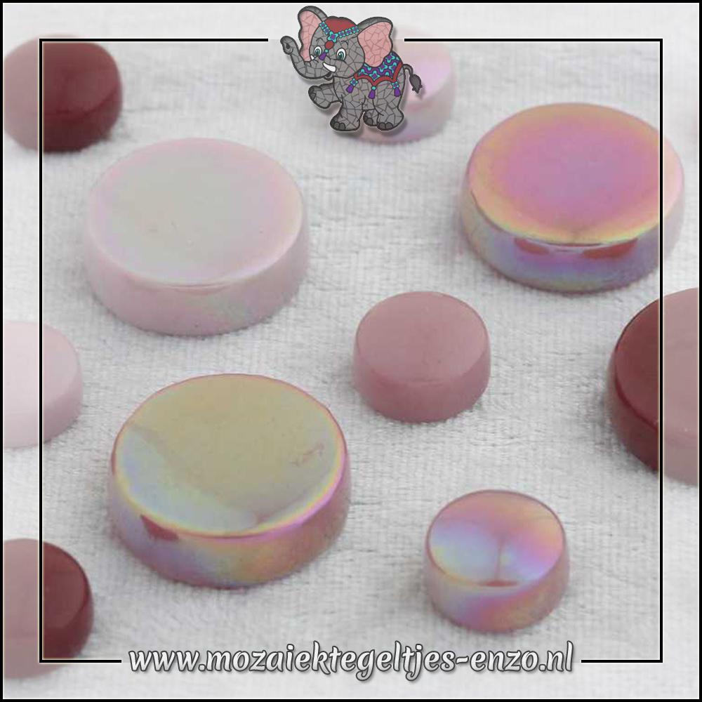 Glasdruppels Normaal-Parelmoer | 12-20mm | Gemixte Kleuren | 50 gram |Pretty in Pink