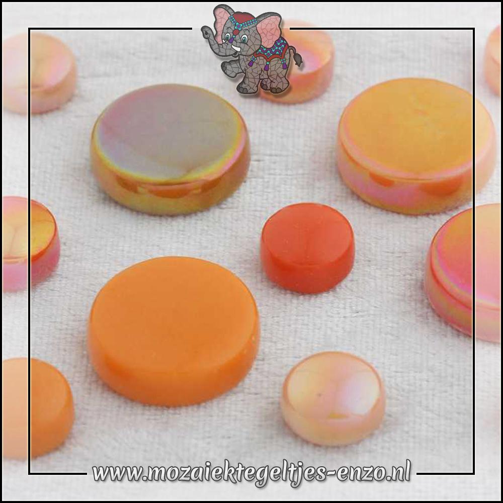 Glasdruppels Normaal-Parelmoer   12-20mm   Gemixte Kleuren   50 gram  Rock Orange
