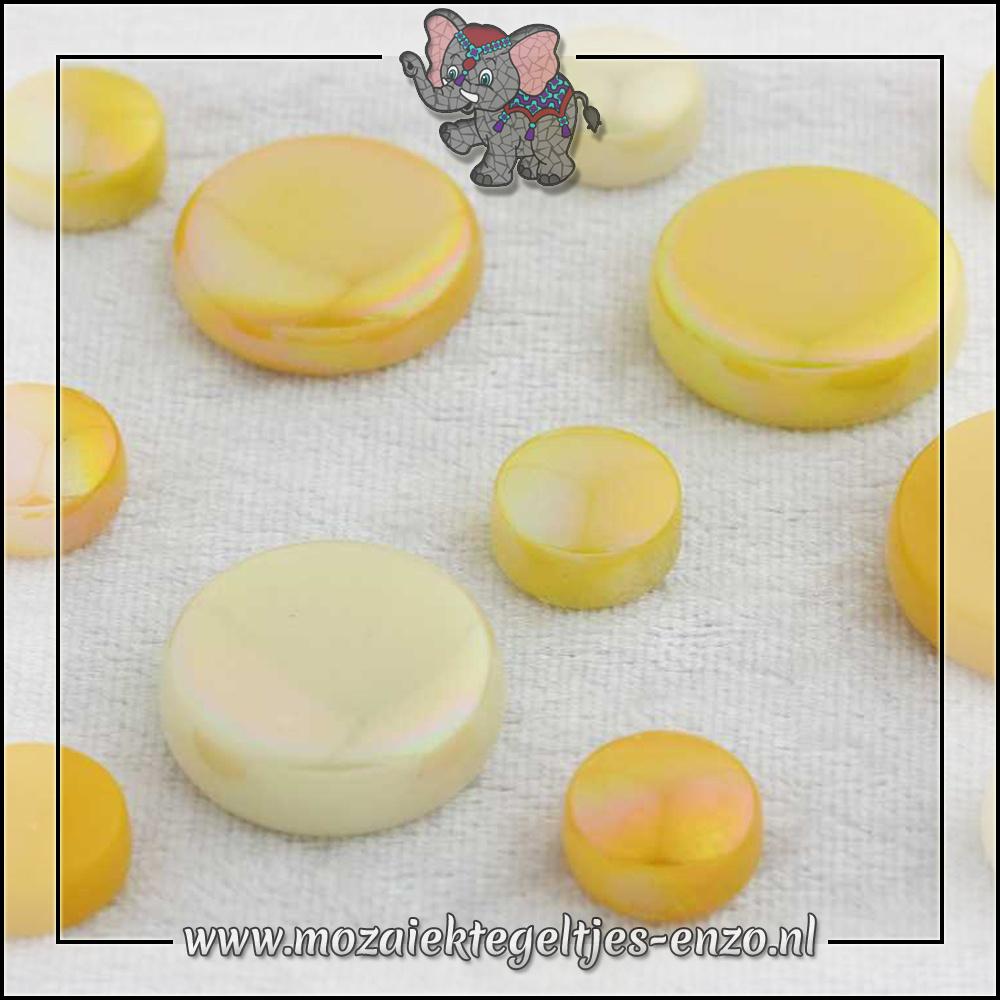 Glasdruppels Normaal-Parelmoer | 12-20mm | Gemixte Kleuren | 50 gram |French Mustard
