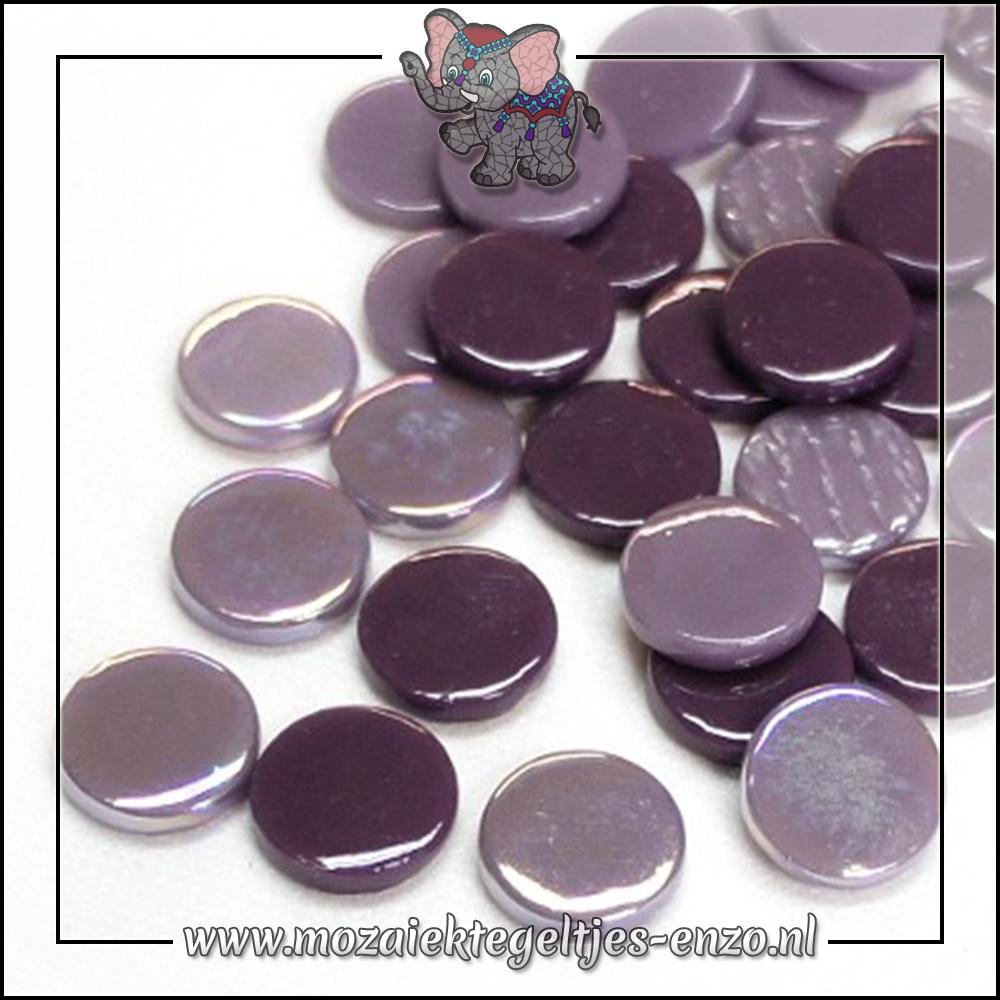 Glasdruppels Normaal-Parelmoer   18mm   Gemixte Kleuren   50 gram  Purple Daze