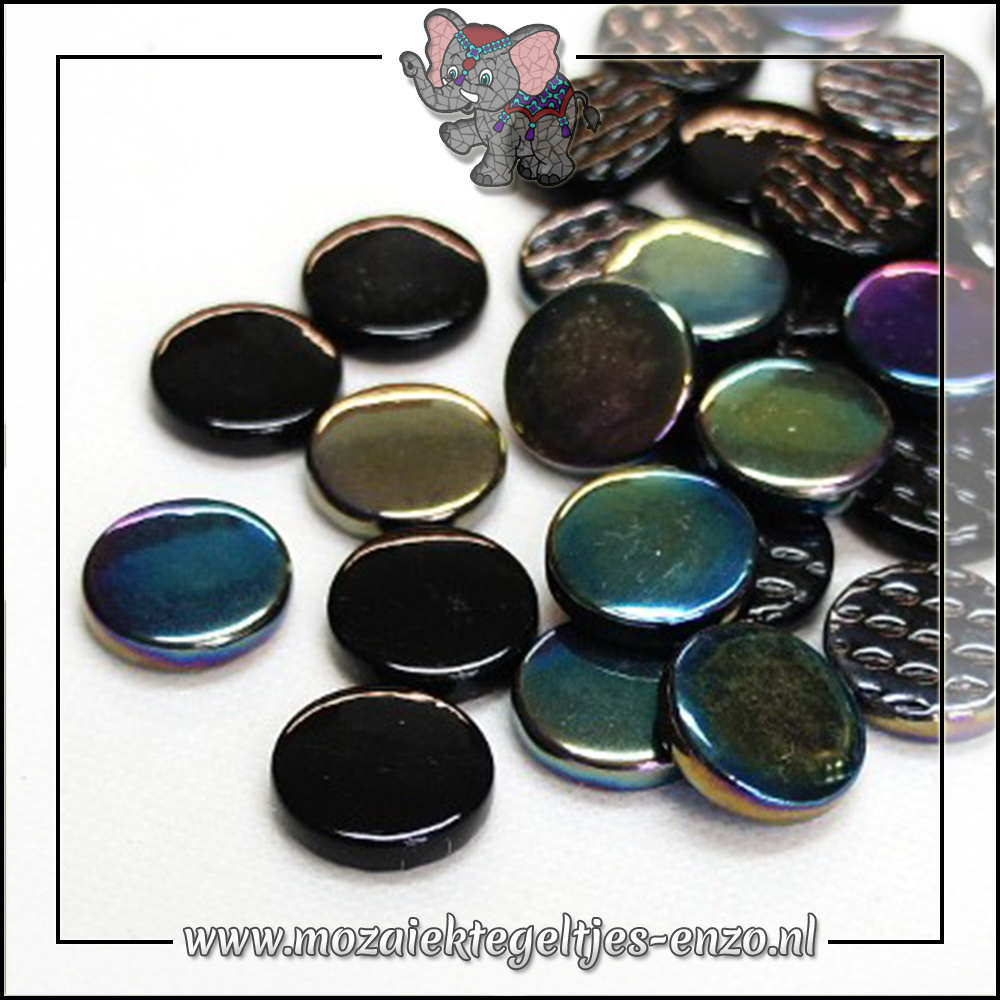 Glasdruppels Normaal-Parelmoer | 18mm | Gemixte Kleuren | 50 gram |Black Magic