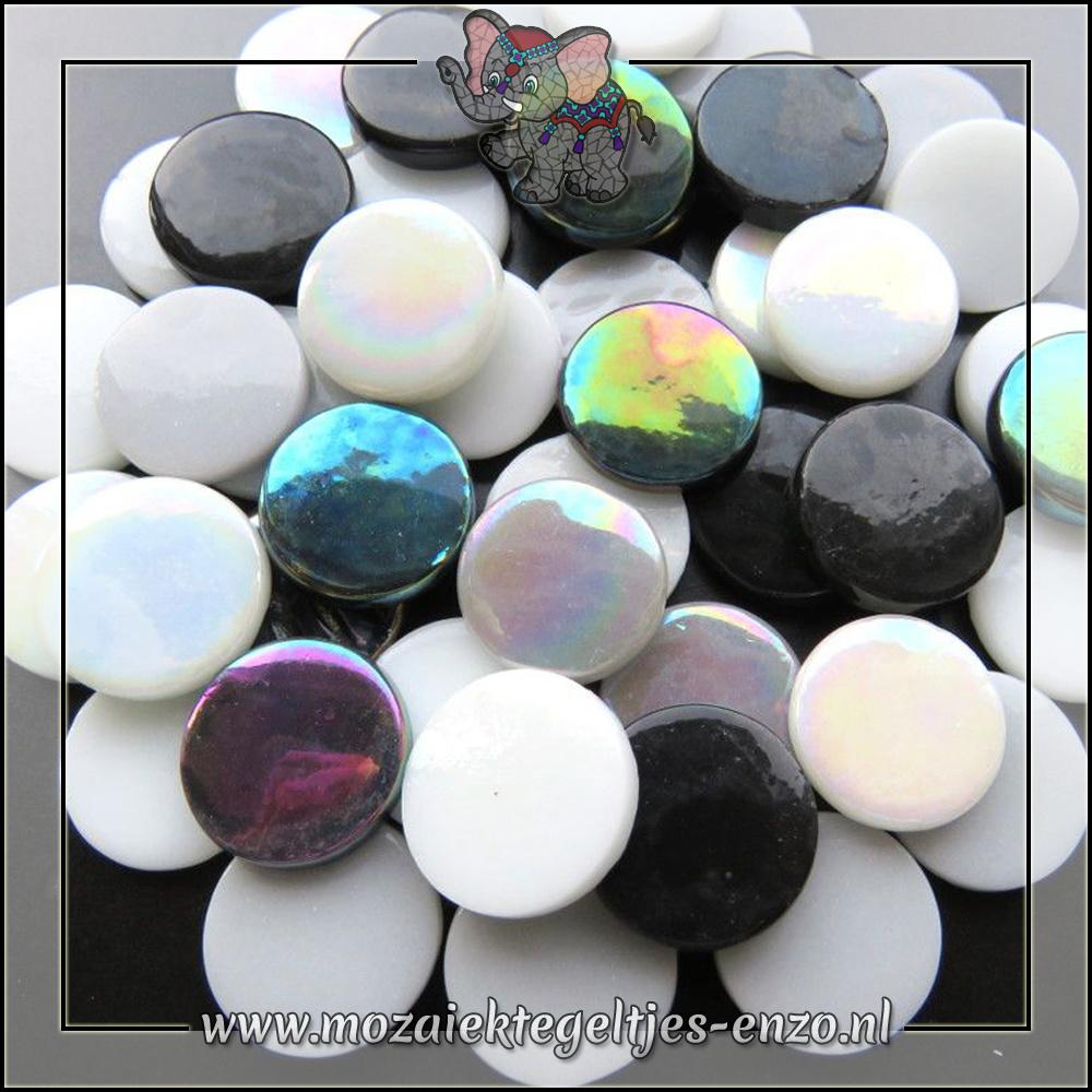 Glasdruppels Normaal-Parelmoer | 18mm | Gemixte Kleuren | 50 gram |Black Russian