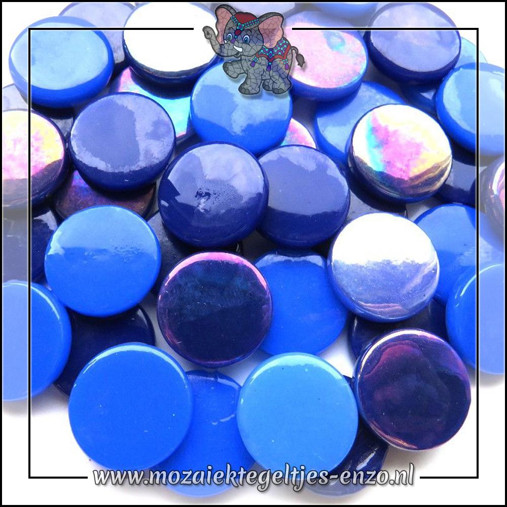 Glasdruppels Normaal-Parelmoer | 18mm | Gemixte Kleuren | 50 gram |Bahama Mama