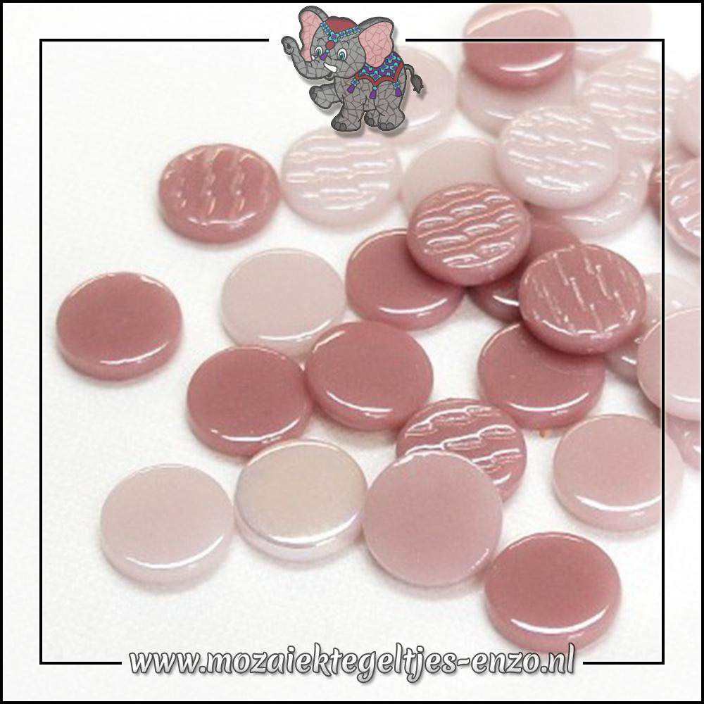 Glasdruppels Normaal-Parelmoer | 18mm | Gemixte Kleuren | 50 gram |Pink Cosmopolitan