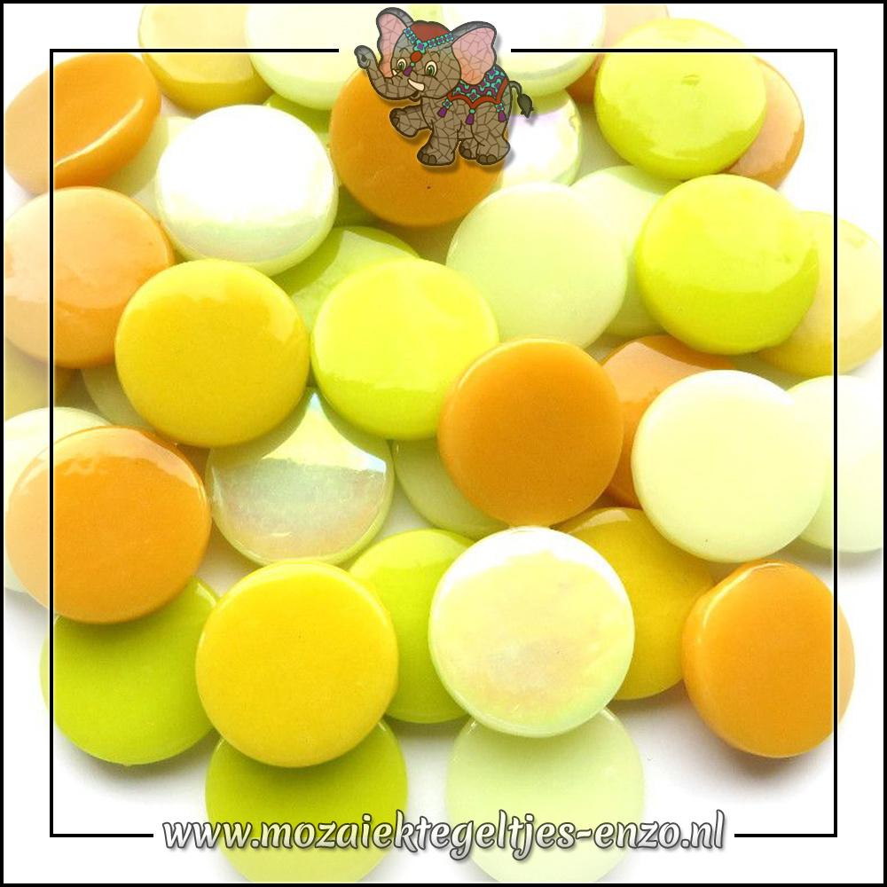 Glasdruppels Normaal-Parelmoer   18mm   Gemixte Kleuren   50 gram  Yellow Bird