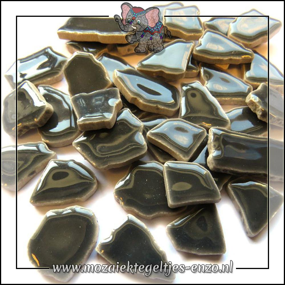Keramiek Puzzelstukjes Normaal | Enkele Kleuren | 50 gram |Mid Grey